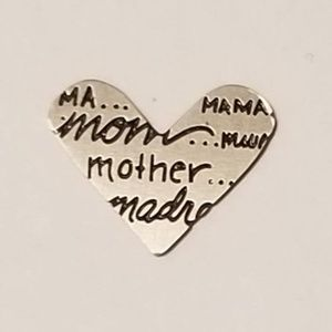 Origami Owl Mother's Day mother heart plate